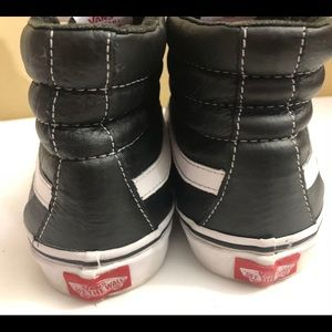 vans off the wall Shoes - Vans Off the Wall Sk/B High Leather BLK/W M 7.5 W9